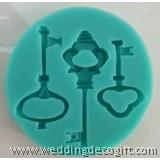 Key Silicone Gum Paste Mould, DIY Key Fondant Silicone - KSM01