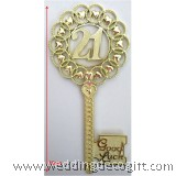 Gold Key 21st Heart Cake Topper - GKCT05A