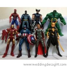Action Super Heroes Captain America, Thor, Iron Man, Hulk