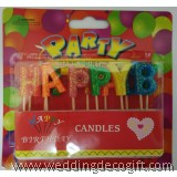 Happy Birthday Glitter Candle - HBC01