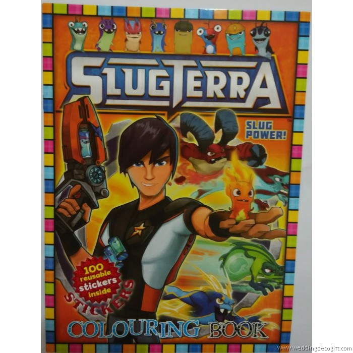 Slugterra Coloring Book And Sticker