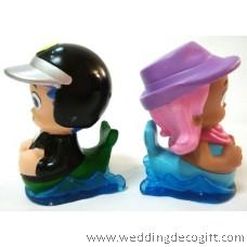 Bubble Guppies Toy Figures, Cake Topper Bubble Guppies (2pcs)- BGCT01E