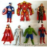 Action Heroes Figurine, Iron Man, Thor, Hulk, Captain America, Spiderman - AVF09
