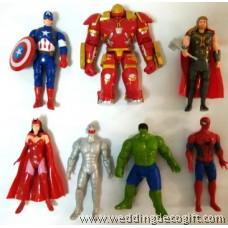 Action Heroes Figurine, Iron Man, Thor, Hulk, Captain America, Spiderman - AVF09