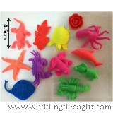 Expandable Sea Creatures Rubber Toys, Grow in Water Toys - SCRT01