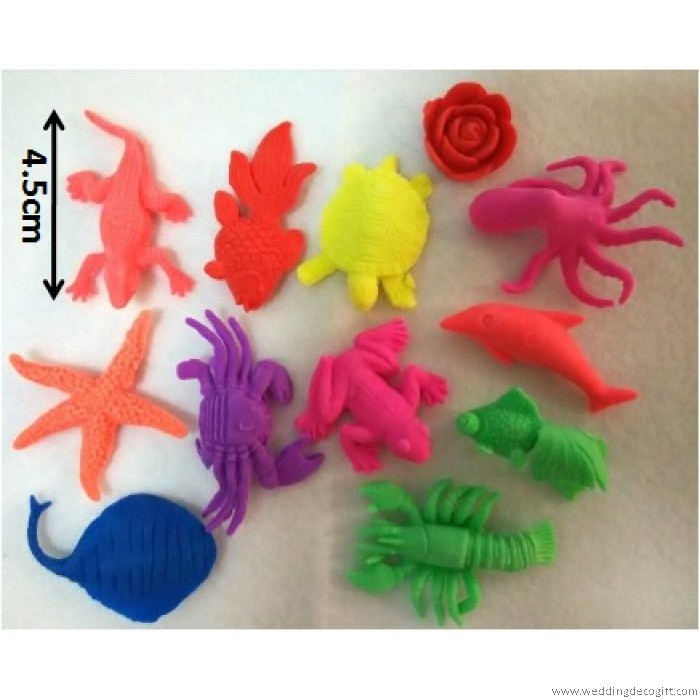 Expandable Sea Creatures Rubber Toys, Grow in Water Toys