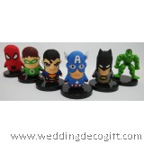 Super Heroes Cake Topper Superman, Captain America, Hulk, Batman, Spiderman, Green Lantern - SHCT02