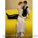 Bride & Groom Wedding Cake Topper - WCTF04