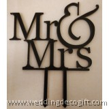 Mr & Mrs Cake Topper - WCTP01