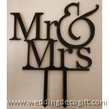 Mr & Mrs Cake Topper - WCTP01