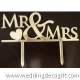 Mr & Mrs Gold Cake Topper - WCTP02