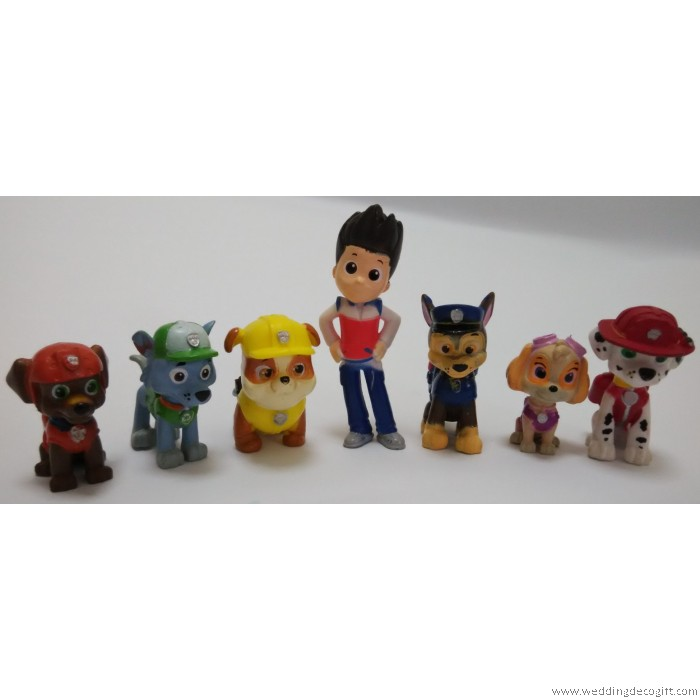 3-Pack Paw Patrol Action Pack Pups Set Figurines Ryder