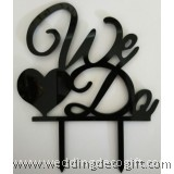 We Do Wedding Cake Topper - WCTP05A