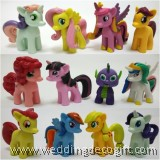 7cm My Little Pony Cake Topper Toy Figures - MLPCT13