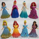 Princess Toys Cake Topper, Princesses Toys Figures - CCT32
