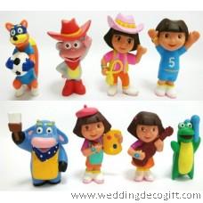 Dora the Explorer Cake Topper Toy Figures - DECT06