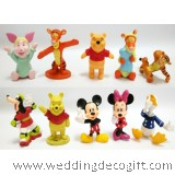 Winnie the Pooh, Mickey Toy Figures - WMCT01