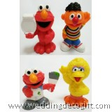 Sesame Street Elmo, Ernie, Big Bird Toy Figures - SSSCT01F (4pcs)