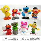 Sesame street Elmo, Cookie Monster, Abby, Big Bird Cake Topper Figures- SSSCT01A (8pcs)