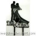Mr & Mrs Bride and Groom Wedding Cake Topper - WCTP08