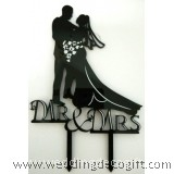 Mr & Mrs Bride and Groom Wedding Cake Topper - WCTP08