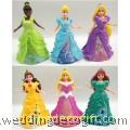 Cinderella, Ariel, Aurora, Rapunzel, Tiana, Belle Princess Cake Topper - CCT38