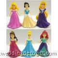 Snow White, Cinderella, Aurora, Rapunzel, Ariel Princess Cake Topper - CCT39