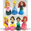 Princess Jasmine, Merida, Cinderella, Aurora, Ariel, Snow White, Rapunzel Cake Topper Toys - CCT40
