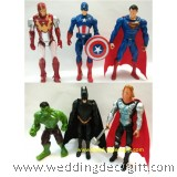 Action Figures Superman, Thor, Captain America, Batman,Iron Man, Hulk -AVF11