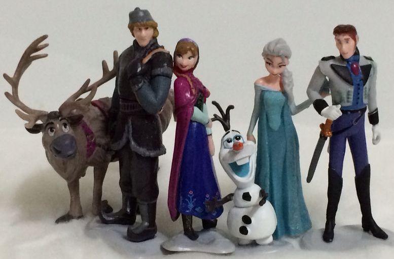 Frozen Princess Figurines Cake Topper Disney Frozen Toy Figurine