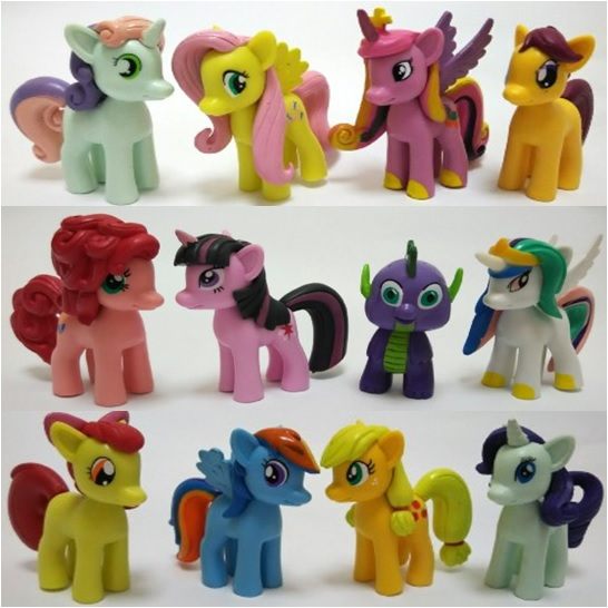 My Little Pony Cake Topper Toy Figures