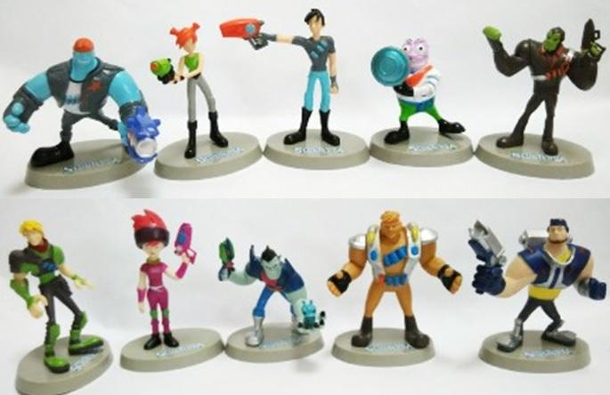 Slugterra Eli Kord Trixie Pronto Toy Figures